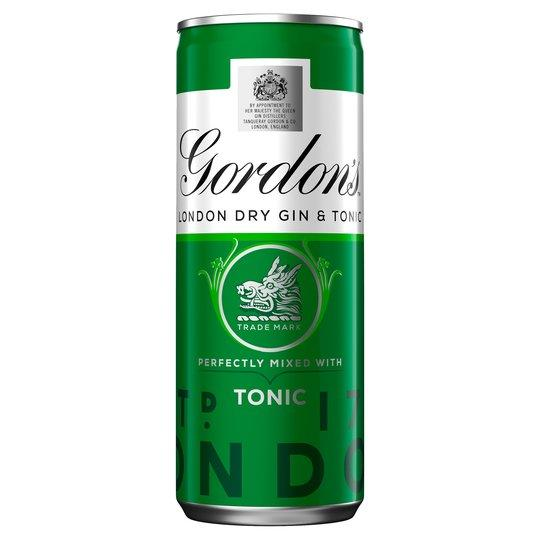Grocery Delivery London - Gordons with Shweppes 250ml same day delivery