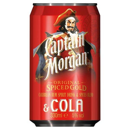 Grocemania Grocery Delivery London| Captain Morgan Spiced and Cola 250ml