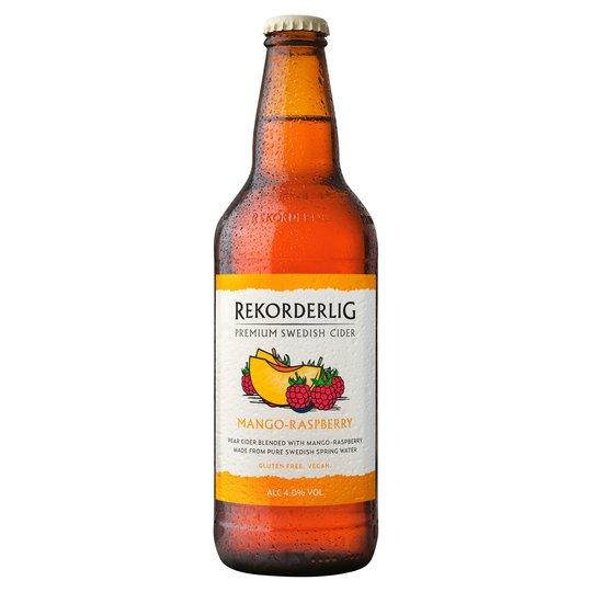Grocery Delivery London - Rekorderlig Mango Raspberry Cider 500ml same day delivery