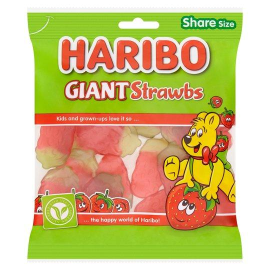 Grocery Delivery London - Haribo Strawbs 190g same day delivery