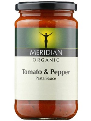 Grocemania Grocery Delivery London| Meridian Tomato & Pepper Pasta Sauce, Organic 440g