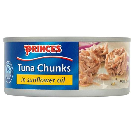 Grocemania Grocery Delivery London| Princes Tuna Chunks In Sunflower Oil 160g