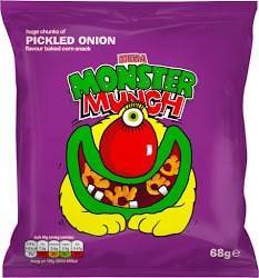 Grocery Delivery London - Monster Munch Pickled Onion 68g same day delivery