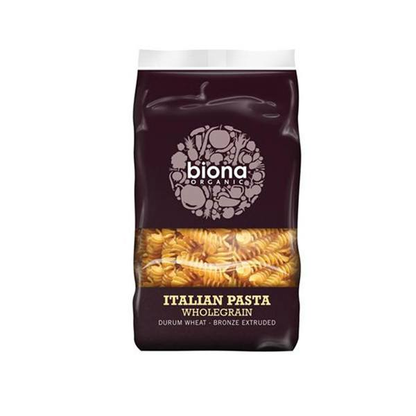 Grocery Delivery London - Biona Organic Wholegrain Italian Pasta Fusilli 500g same day delivery
