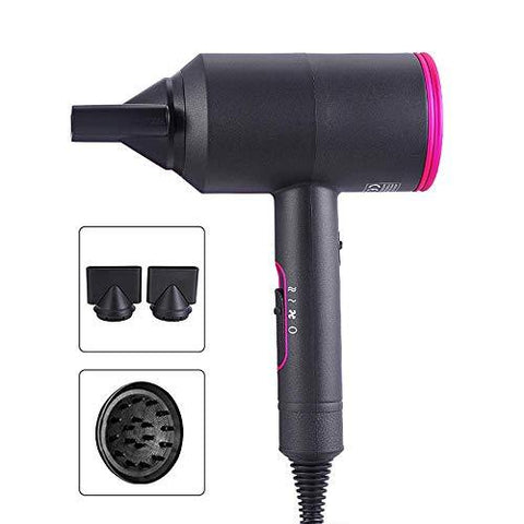 Professional Hair Dryer with Diffusers - Fast, Quiet, and Lightweight