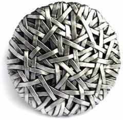 woven disc ring handcrafted in silver by artist designer maker gurgel-segrillo