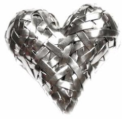 woven heart ring handcrafted in silver by artist designer maker gurgel-segrillo