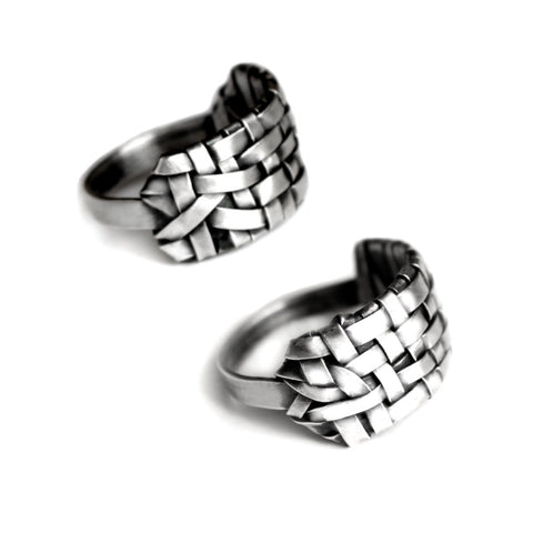 woven alternative rings made to order by jewellery designer gurgel-segrillo, love wins