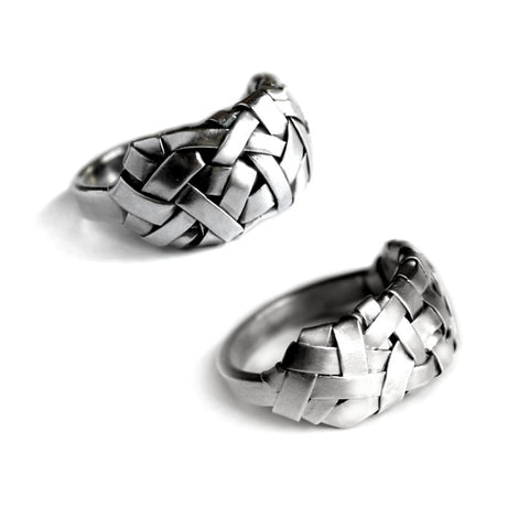 partnership rings by jewellery designer gurgel-segrillo, made to order in white gold