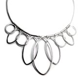 necklace handcrafted in sterling silver - eterica series by contemporary jewellery designer gurgel-segrillo