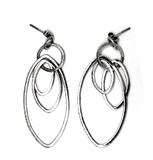 eterica series drop earrings handcrafted in sterling silver - eterica series by contemporary jewellery designer gurgel-segrillo