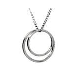 eterica series double circle pendant handcrafted in sterling silver - eterica series by contemporary jewellery designer gurgel-segrillo