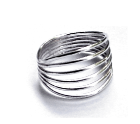 eterica series ring handcrafted in sterling silver - eterica series silver ring by contemporary jewellery designer gurgel-segrillo