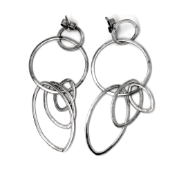 drop earrings handcrafted in sterling silver - eterica series by contemporary jewellery designer gurgel-segrillo