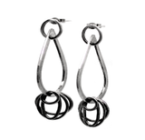 eterica series drop earrings handcrafted in sterling silver by contemporary jewellery designer gurgel-segrillo