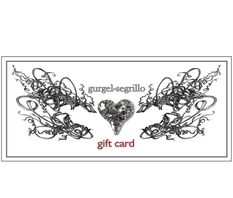 gift card - shopping online for art jewellery and wall art by artist designer maker gurgel-segrillo