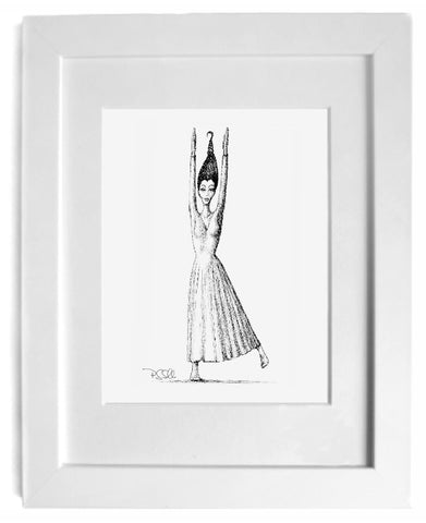 love art, gift art - shop for fine art prints - Figurative black and white wall art by irish artist gurgel-segrillo