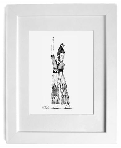 shop for original art direct from the artist - black and white art, figurative art, fine art print inspired by magic realism literature by artist gurgel-segrillo