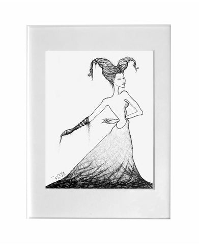 fine art print - Figurative explorations on cross-cultural identity and womanhood, empowerment and femininity, by artist gurgel-segrillo