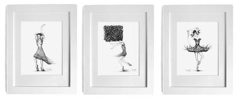 dance art prints by artist p gurgel-segrillo magic realism