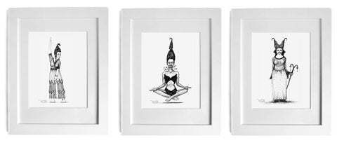 3-print set #2 - 'Dancing Gracefully Amid the Noise' + 'The Space Within' + 'The Magic Within'