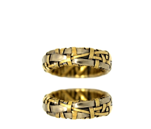 shop for wedding rings handcrafted in yellow gold and white gold by art jewellery designer gurgel-segrillo, love is love