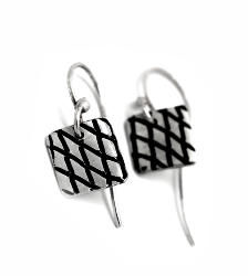 skin series of contemporary jewellery - hallmarked sterling silver earrings by artist designer maker gurgel-segrillo