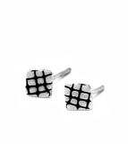 sterling silver stud earrings by artist designer maker gurgel-segrillo