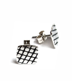 skin series of contemporary jewellery - silver earrings by artist designer maker gurgel-segrillo