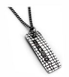 skin series of contemporary jewellery - hallmarked sterling silver pendant by artist designer maker gurgel-segrillo