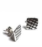 skin series of contemporary jewellery - sterling silver earrings by artist designer maker gurgel-segrillo