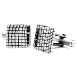 skin series of contemporary jewellery - hallmarked sterling silver cufflinks by artist designer maker gurgel-segrillo