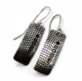silver hallmarked earrings - designer jewellery by cork city artist gurgel-segrillo