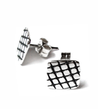 skin series of contemporary jewellery - sterling silver stud earrings by artist designer maker gurgel-segrillo