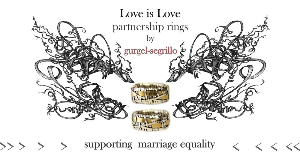 shop online wedding, partnership, engagement rings made to order by designer gurgel-segrillo - love is love