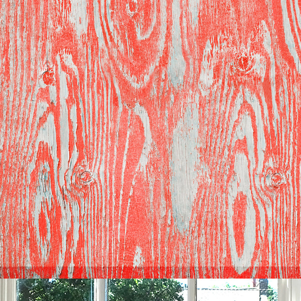 Wood Grain Coral Red roller blind