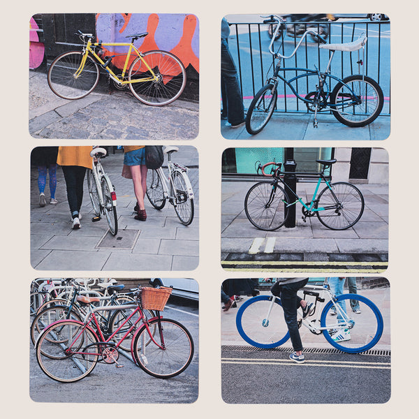 Bikes of Hackney placemats set of 6