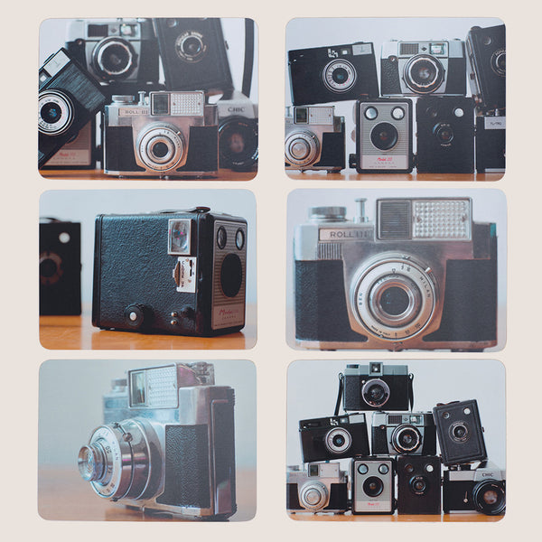 Cameras placemats set of 6