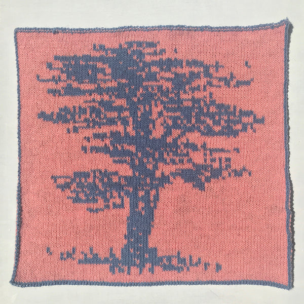 Cedar Tree Knitted Panel