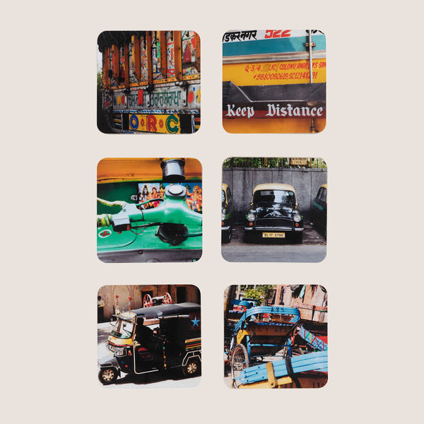 Delhi Days coasters set of 6