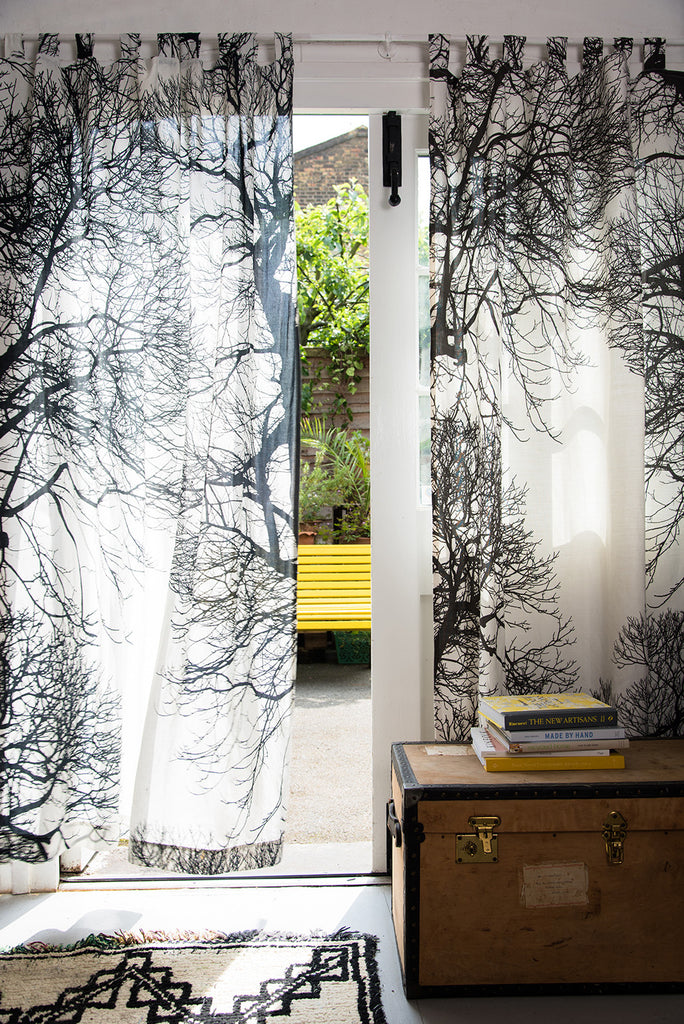 Brushwood Linen Curtain Panels