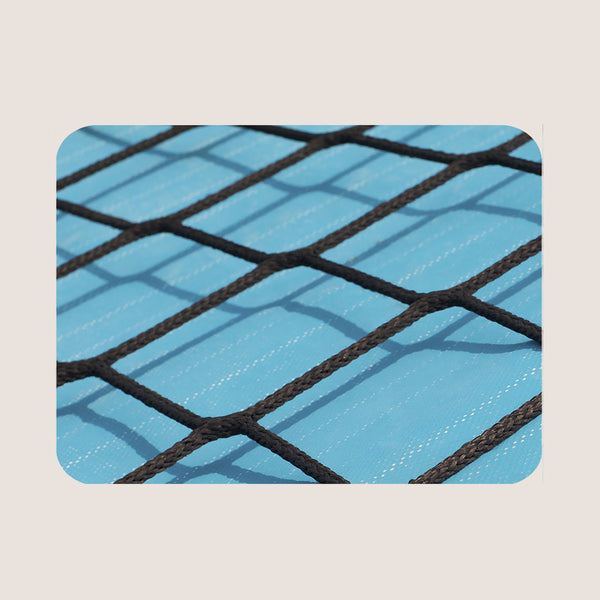 Black Rope on Blue single placemat