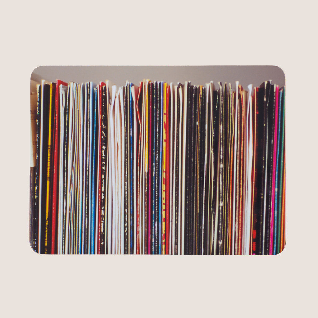 Stacks and Stripes: Records single placemat