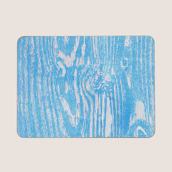 Wood Grain Blue single placemat