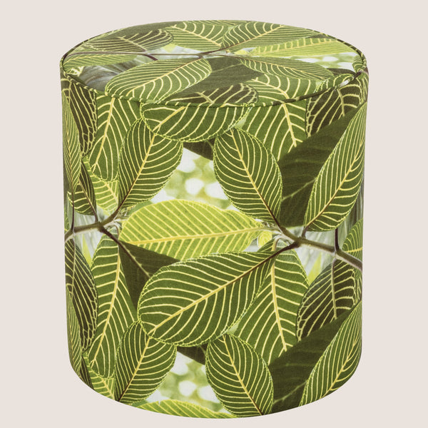 Safari Leaf upholstered pouffe