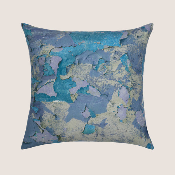 Peeling Paint Blue Hue cushion 45x45