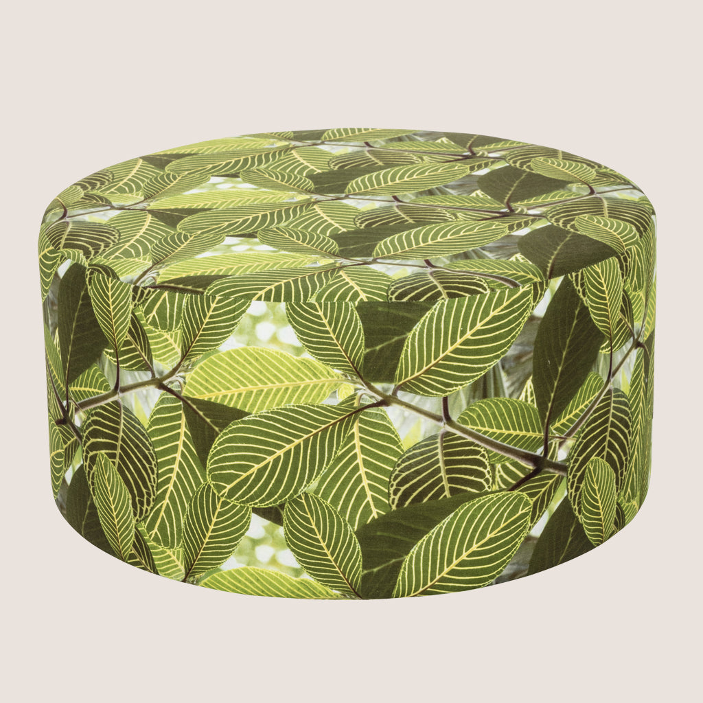 Safari Leaf upholstered large ottoman