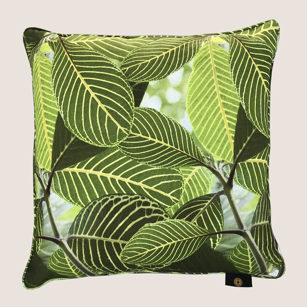 Safari Leaf cushion 45x45cm with piping