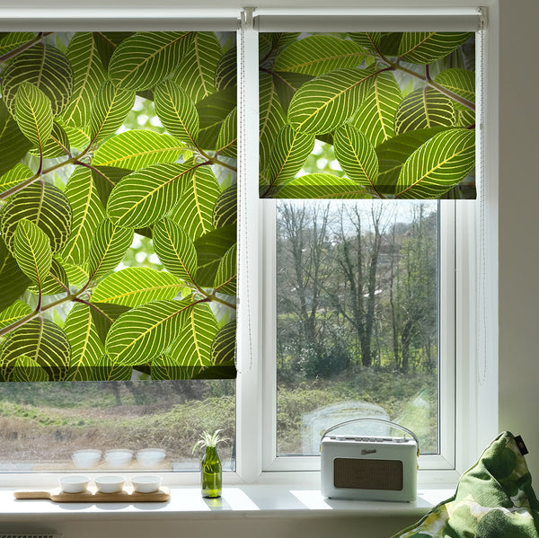 Safari Leaf roller blind