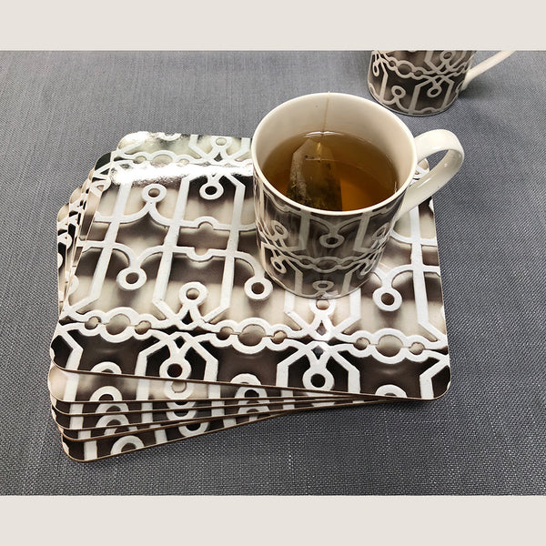 Fretwork placemats set of 6